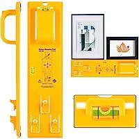 Foto Opknoping Tool met Niveau Gemakkelijk Frame Foto Hanger Muur Opknoping Kit (Geel)