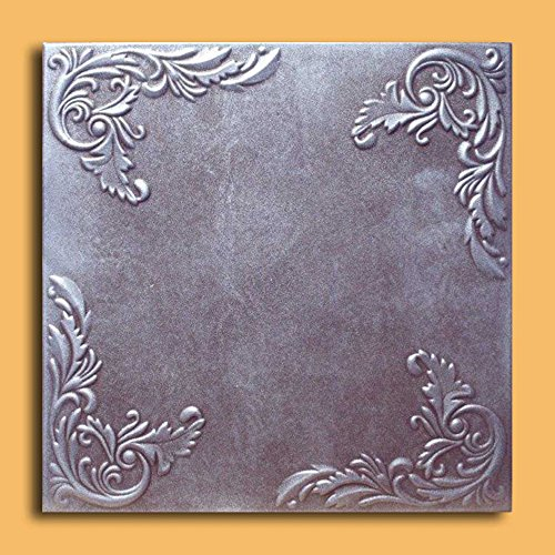 Antique Ceilings Inc - Marseille Silver Brown - Styrofoam Ceiling Tile (Package of 10 Tiles)
