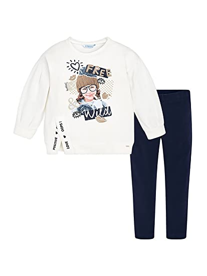 64982d6ac Mayoral - Leggings Set for Girls - 4722, Navy: Amazon.co.uk: Clothing