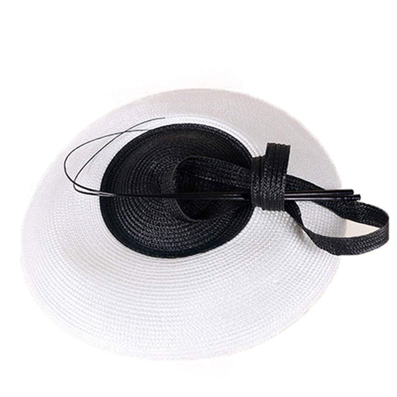 Fascinators for Women Weddings Pillbox Hat Straw Fedora Vintage Church Dress Sinamay Derby Hats Black