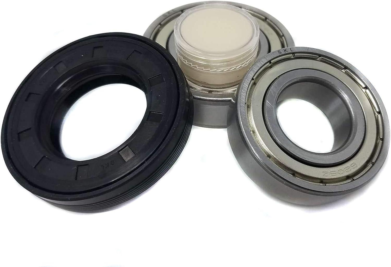 Juego de rodamientos de bolas 6205 6206, junta de eje 35 x 62 x 11/12,5 para lavadora AEG Electrolux