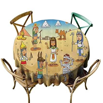 Amazon Com Custom Tablecloth Cartoon Decor Illustration Of