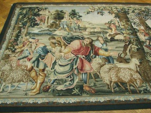Religious Christian Motif Handamde 5x7 Tapestry by Harooni Rugs