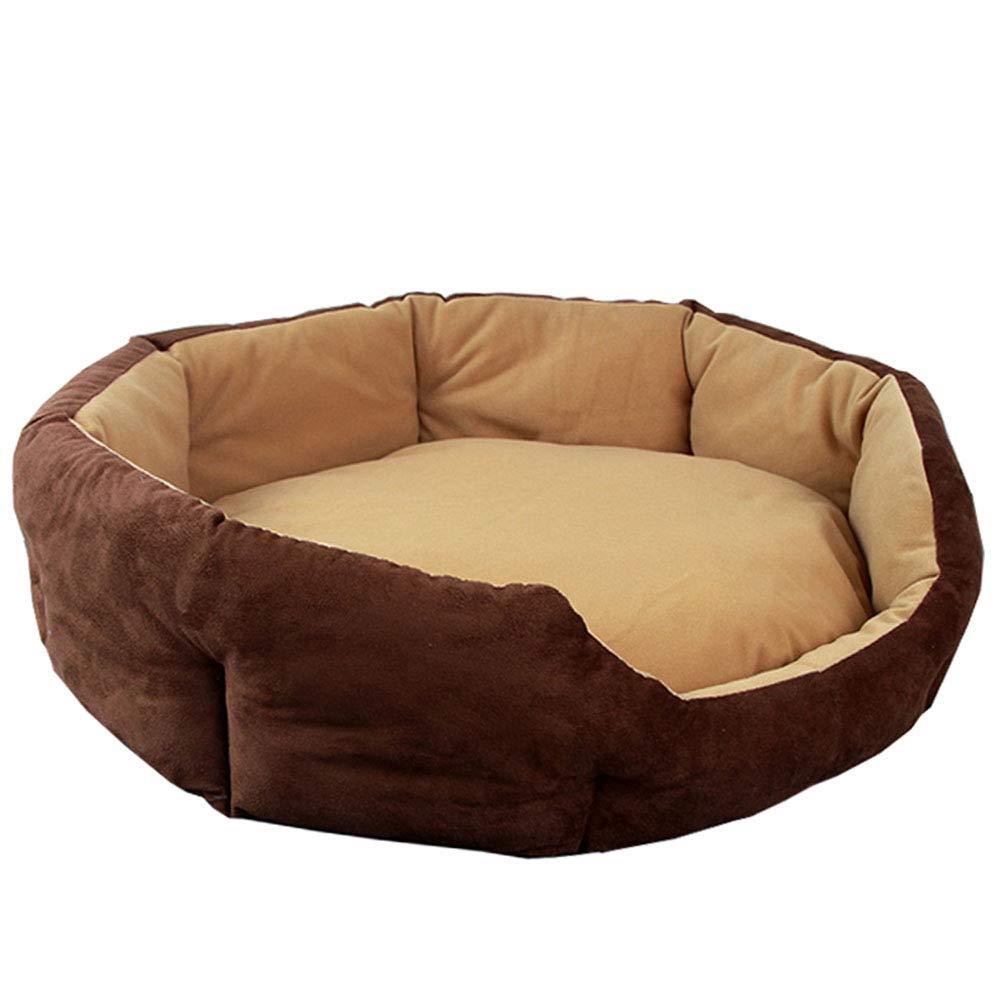 6 BX Pet Mat, Doghouse Cat House Detachable and Washable Pet Nest Wear Resistant Bite Pet Bed (Size Outer diameter,XL  60 × 60cm)