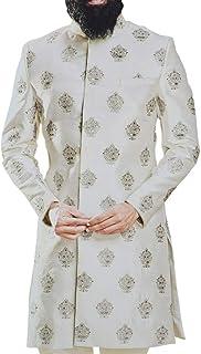 INMONARCH Black Sherwani for Men Embroidered Work Groom Indowestern for Wedding SH1090