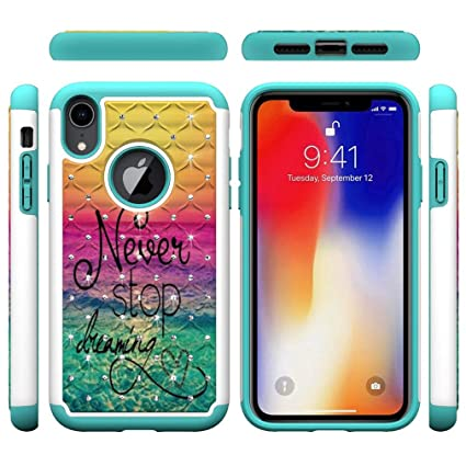 Amazon.com: iPhone XR Case,Shockproof Slim 2 in 1 Hybrid ...