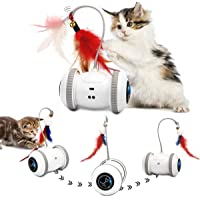 Nueplay Cat Toys Robotic Interactive Indoor Electronic Toys with LED Light 360 Degree Rotation Sensor Mode Freestyle…