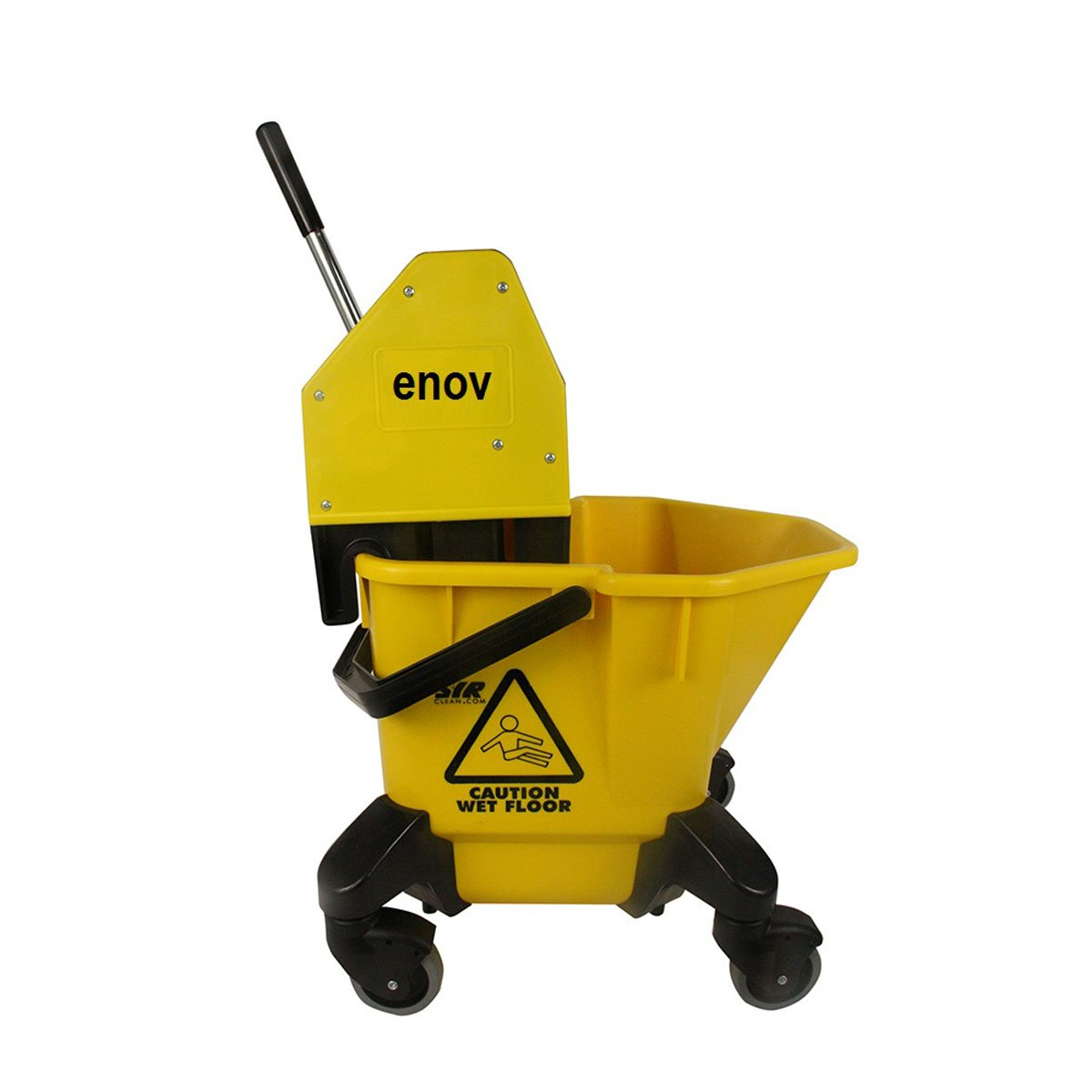 Enov HBR020-YL Kentucky Bucket and Wringer, 20 L Capacity, Yellow