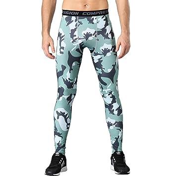 1Bests Ropa de deporte para hombre Compression Fitness Elasticidad Pantalones  Baloncesto Correr Medias de entrenamiento Base 8a57718c1e9d8