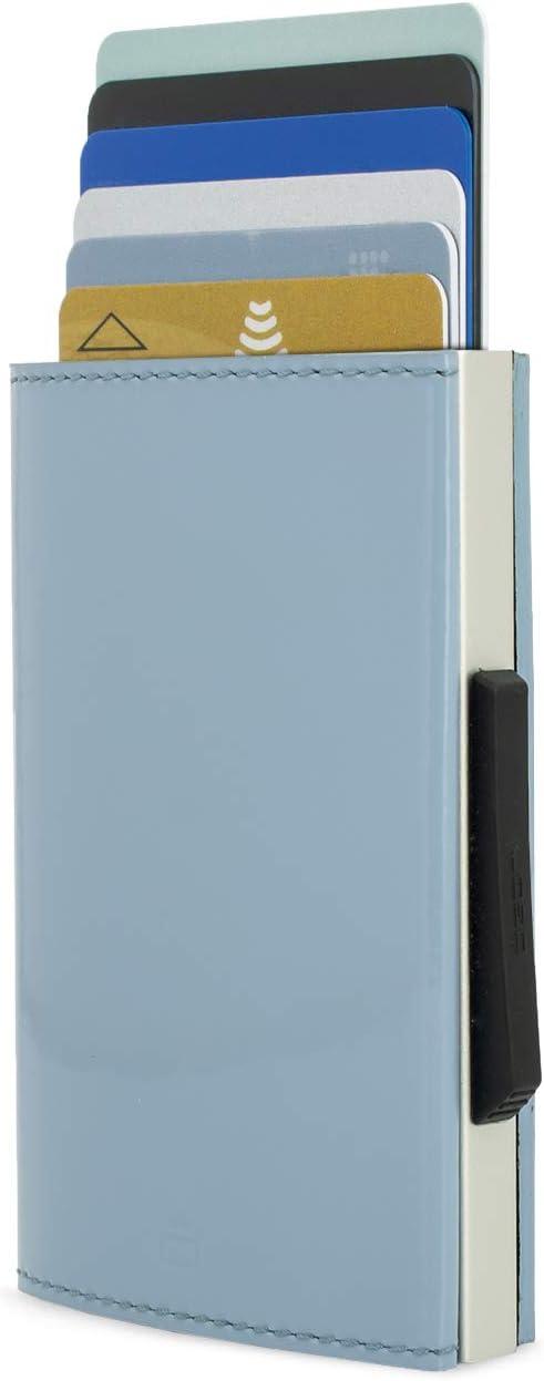 /Ögon Design White Portefeuille Cascade Slim Protection RFID Aluminium et Cuir