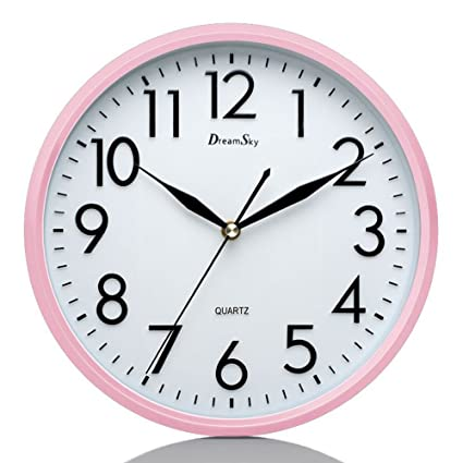 dreamsky 10 silent wall clock battery operated non ticking decorative indoor - Kitchen Clock