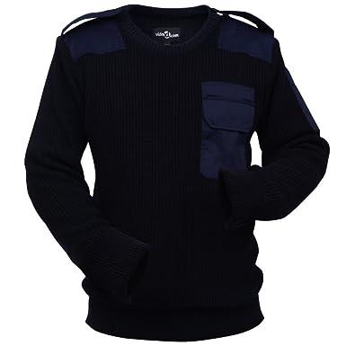 acd663026258 vidaXL Herren Arbeitspullover Bundeswehr Pullover Berufspullover Pulli Gr. L