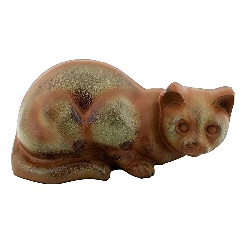 Achla Designs CAT-03 Watchful Cat Statue Sculpture Indoor Outdoor Art Decor, Bronze