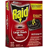 Raid 8 Count Double Control Large Roach Baits (3)