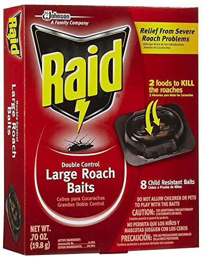 Raid Double Control, Large Roach Baits, 8 CT (Pack - 3)