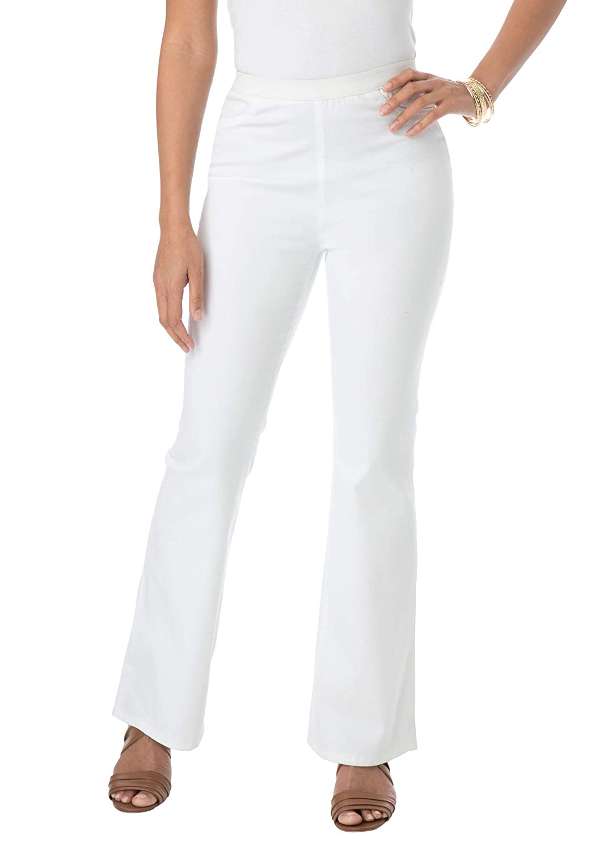 8c3958e867 Jessica London Women's Plus Size Tall Bootcut Stretch Denim Jeggings at Amazon  Women's Clothing store: