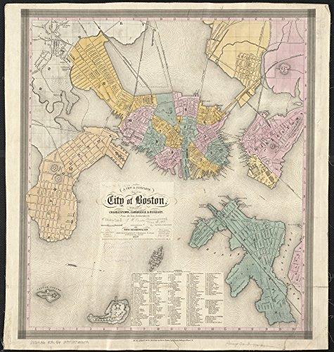 1839 Map (Vintage City of Boston Map, 1839 - 23