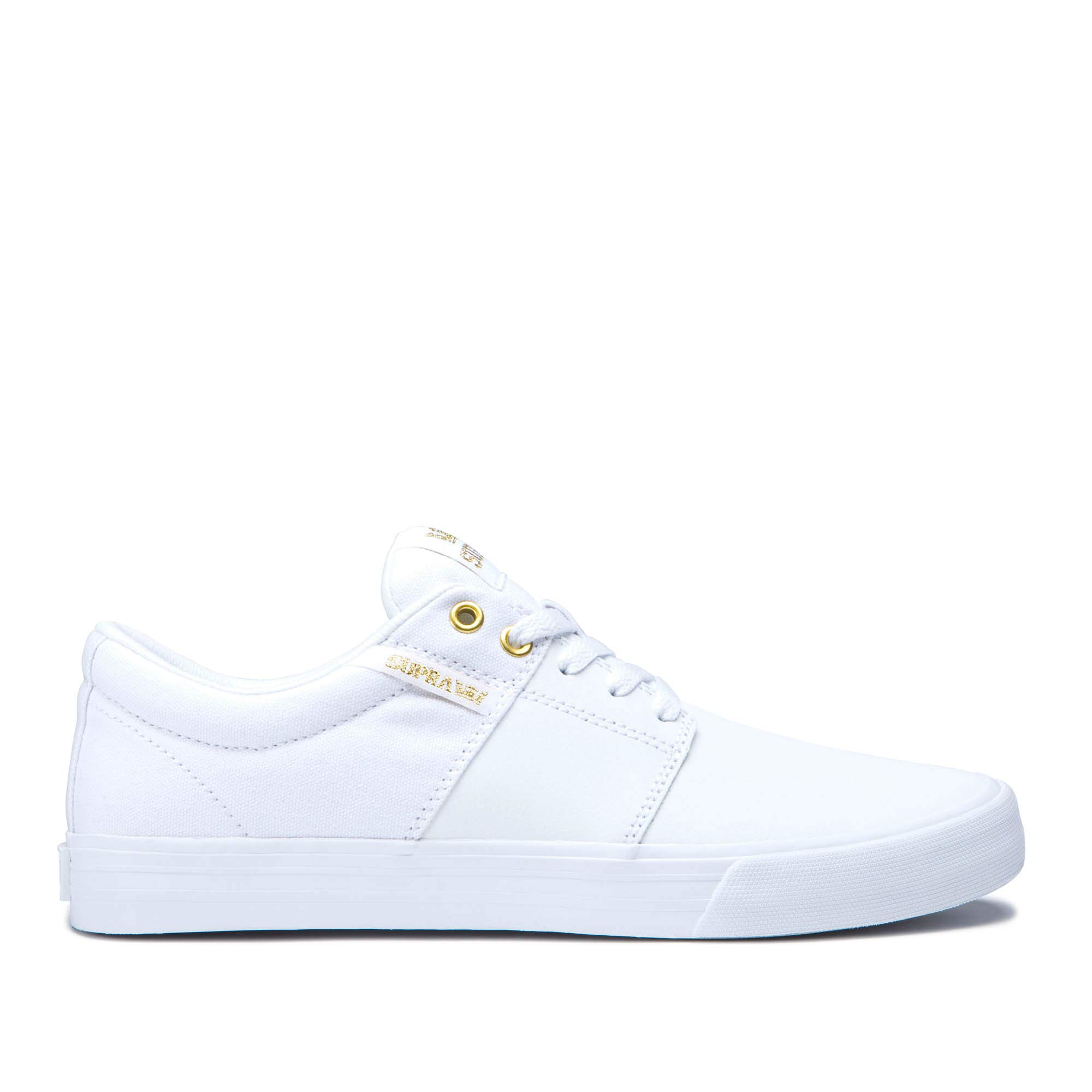 Supra Unisex Adults' Stacks Vulc Ii Low-Top Sneakers, Gold-White 122 6 UK