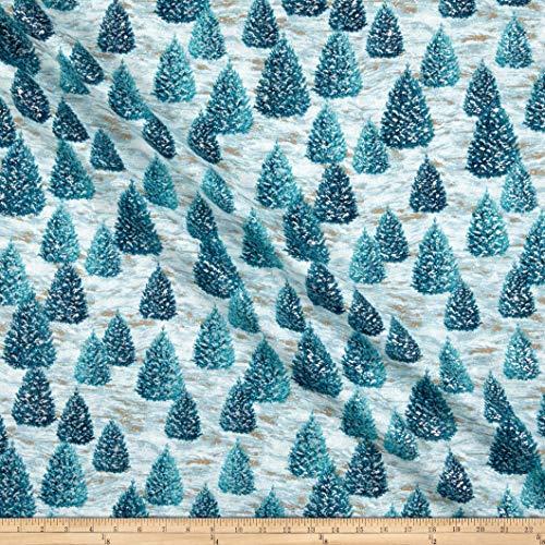 Robert Kaufman Winter White Solstice Christmas Tree Mist, Fabric by the Yard