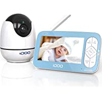 "iDOO Video Baby Monitor with Camera and Audio no WiFi, 5"" 720P HD Display, Remote Pan/Tilt/Zoom, 900ft Range, Two-Way…"