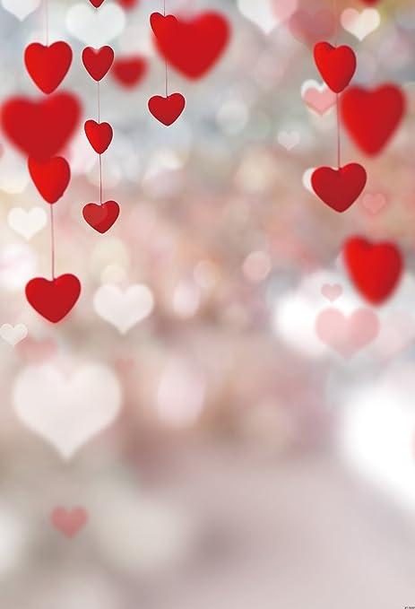 Konpon 150 x 220 cm cuore giorno di San Valentino sfondo fondali fotografia  senza rughe senza