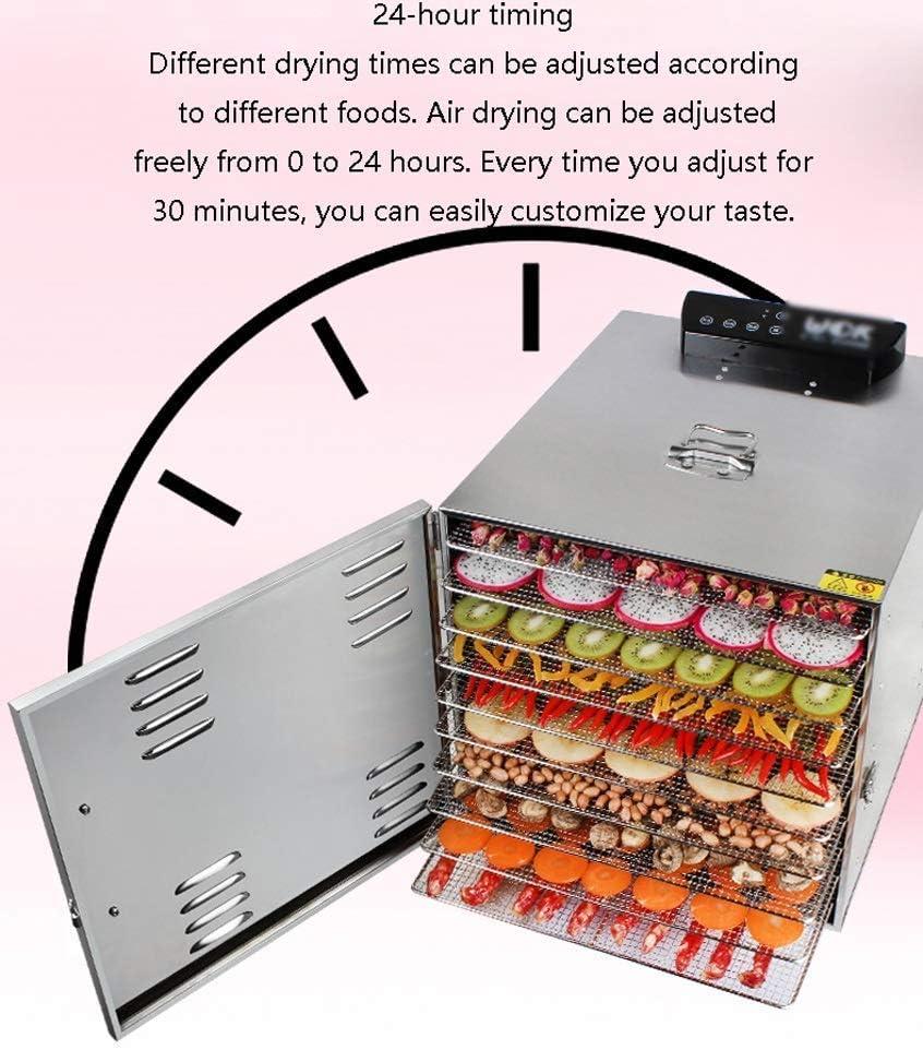 Deshidratador comercial premium con 10 ranuras, temporizador de 15 horas, caja de acero inoxidable y ranuras, incluida 1 * bandeja de acero inoxidable: Amazon.es: Hogar