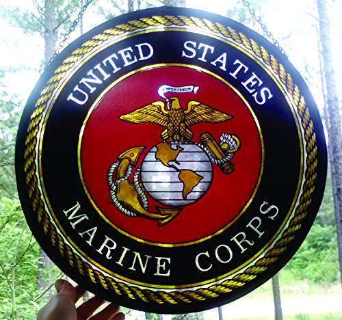 States Marine Seal United Corps (United States Marine Corps Seal Stained Glass Medallion)