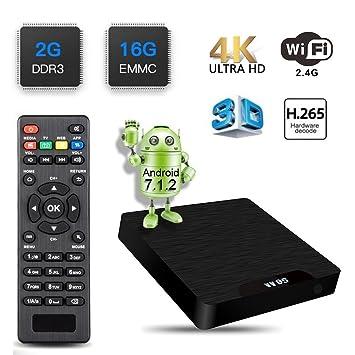 [2GB RAM + 16GB ROM] 2018 Última Edición DIGOU W95 Android 7.1 TV Box