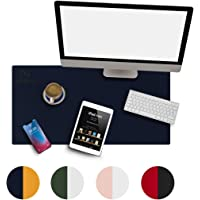 """REZERO Large Desk Pad, Office Desk Mat 31.5"""" x 15.7"""" PU Leather Mouse Pad Waterproof Desk Writing Pad for for Office…"""