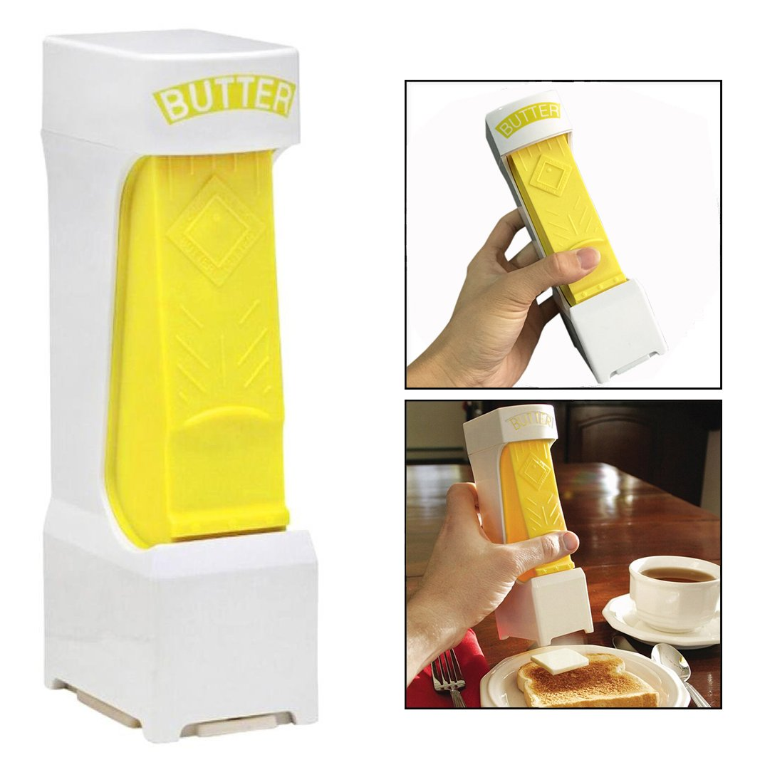 OFKPO Butter Cheese Cutter Slicer, One Click Squeeze Serve Kitchen Tool for Home