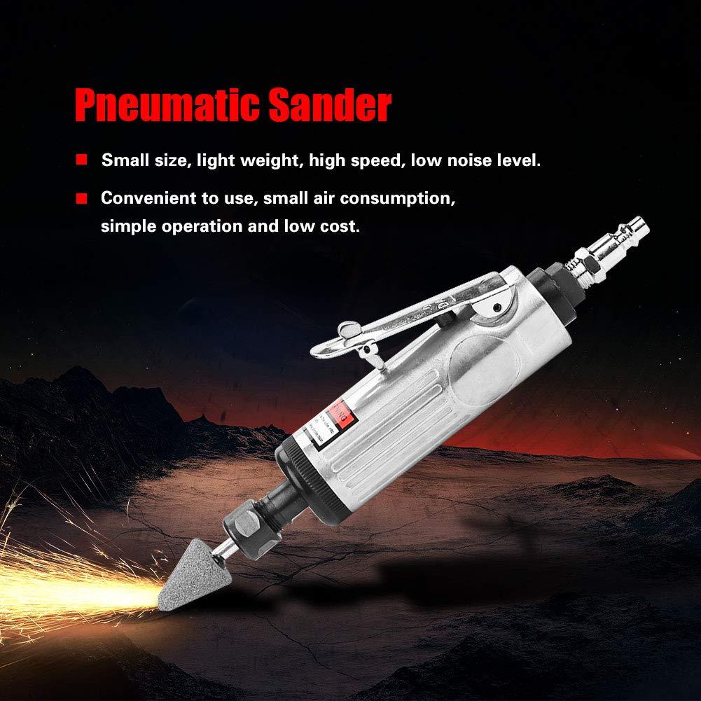 Pneumatic Sander Mini Metal Pneumatic Sander Machine Polishing Grinder Die Air Tool Grinding Mill Tool Set for Polishing Grinding