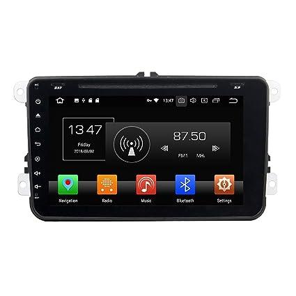 kunfine Android 8.0 Octa Core coche reproductor de DVD GPS navegación Multimedia estéreo para VW Deckless