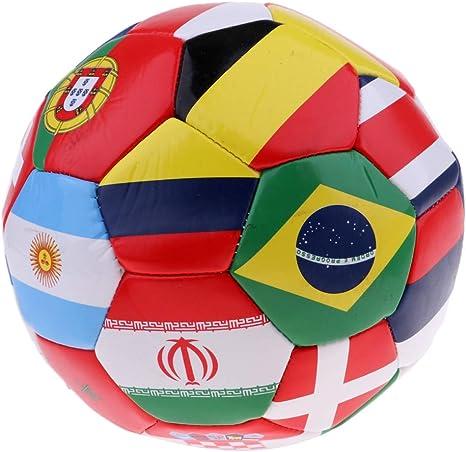 SaniMomo Balón De Fútbol con Bandera Internacional, Tamaño 5 con ...