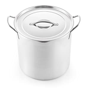 McSunley 609 Medium Stainless Steel Prep N Cook Stockpot, 20 quart, Metallic