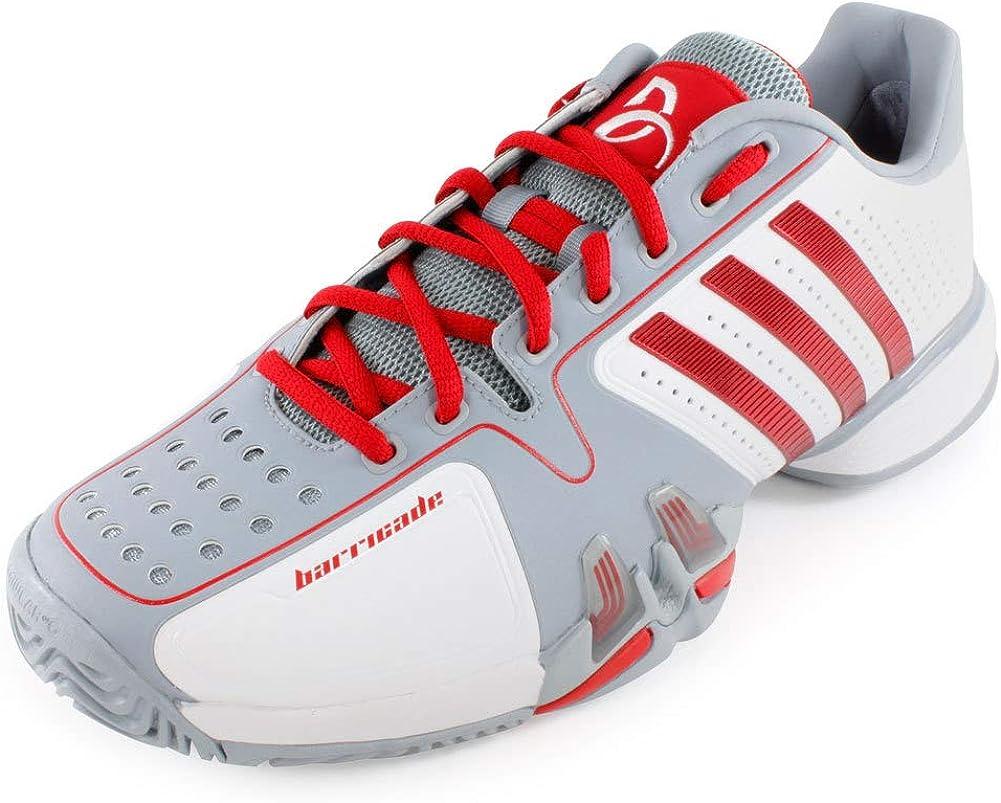 Encantada de conocerte Tranquilizar vertical  Adidas Barricade 7 Novak Djokovic White/Grey/red (10): Amazon.ca: Shoes &  Handbags