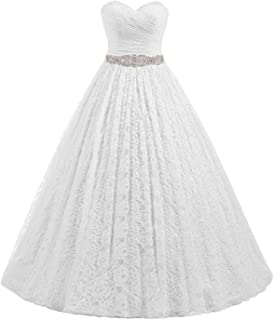 Amazon.com: Eyekepper - Vestido de novia de doble hombro ...