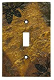 Kitchen Lighting Covers Big Sky Carvers 30170447 Pinecone Single Switch Plate