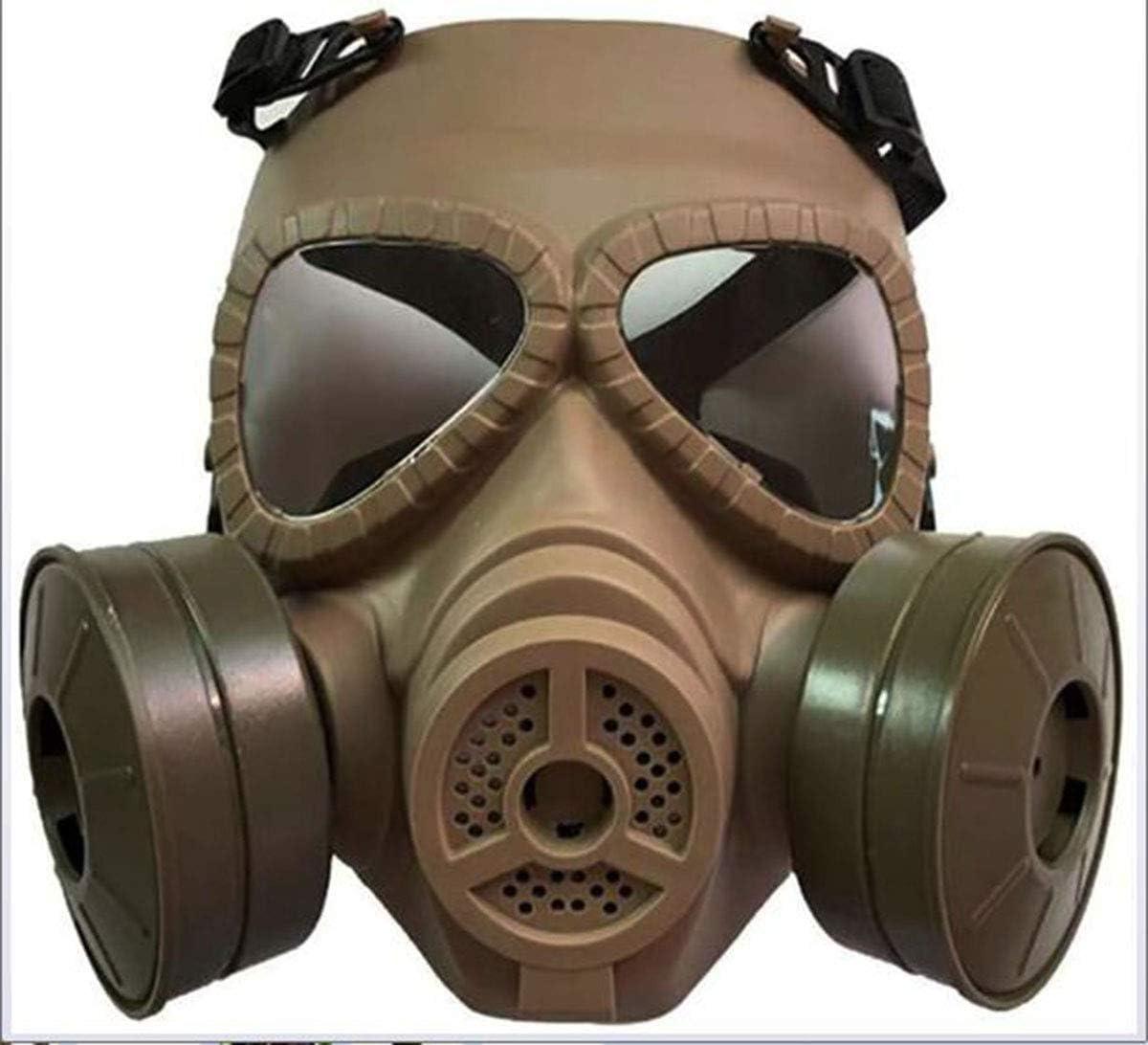 Hyl Máscara de Gas Completa y máscara de protección de Goma respirador de 360 °, protección Total ampliamente Utilizada en Gas orgánico, Pintura, carpintería, protección contra el Polvo