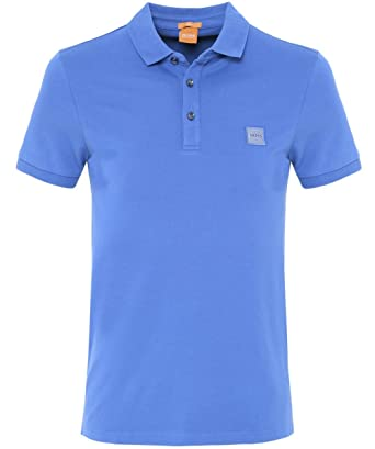 Hugo Boss Orange Herren Slim Fit Pavlik-Polo-Shirt XXL Blau