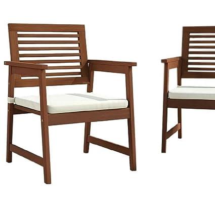Amazon.com: BS madera Patio sillas de comedor 2 piezas al ...