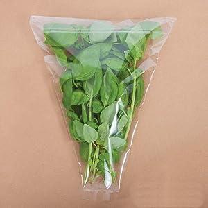 Fresh Cut Herbs and Microgreens Sleeves - herb Bags - herb Garden - aerogarden - hydroponics Supplies - Home Garden (50, 10x12x2