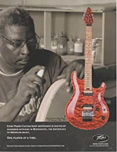"""Magazine Print ad: 2007 Peavey Custom Orange Quilt-Top HP Special CT USA Electric Guitar,"""".Crafted By Seasoned Luthiers in Mississippi, the Birthplace of American Music.One Player at a Time"""