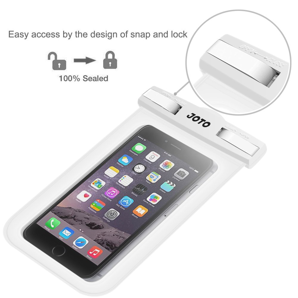 JOTO Universal Waterproof Pouch Cellphone Dry Bag Case for iPhone XS Max XR XS X 8 7 6S Plus Pixel 3 XL Pixel 3 2 HTC LG Sony MOTO up to 6.0 Samsung Galaxy S9//S9 +//S8//S8 +//Note 8 6 5 4 Blue