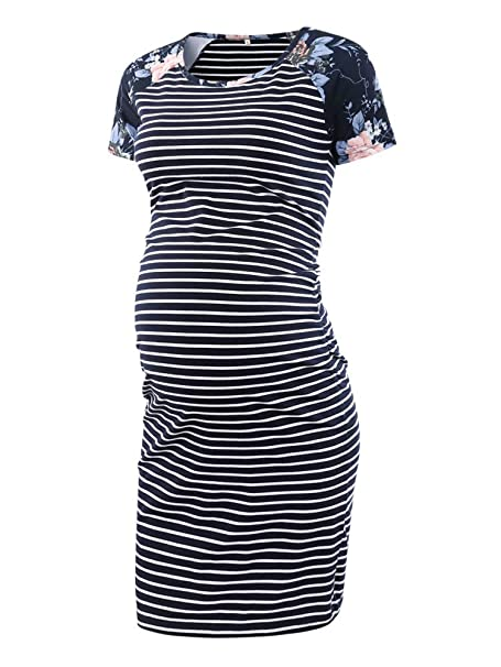 d739b2b0da6d6 Image Unavailable. Image not available for. Color  BBHoping Women s  Baseball Raglan Short Sleeve Maternity Dress Bodycon Dress Pregnancy Clothes