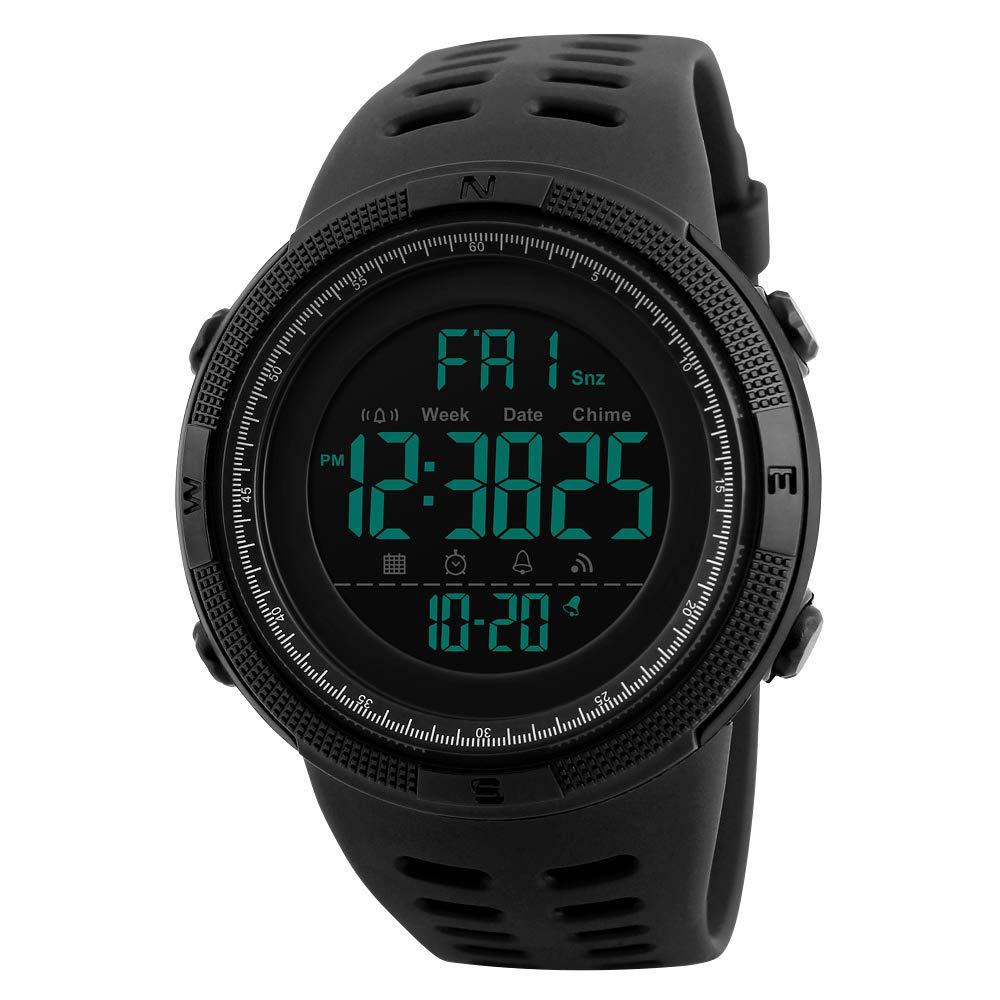 Reloj Deportivo para Hombre 5ATM Reloj de Pulsera Digital cronógrafo para Hombres y niños