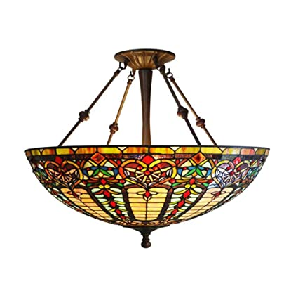 22 inch tiffany style baroque chandelier hand crafted stained glass 22 inch tiffany style baroque chandelier hand crafted stained glass pendant lamp living room bedroom aloadofball Image collections