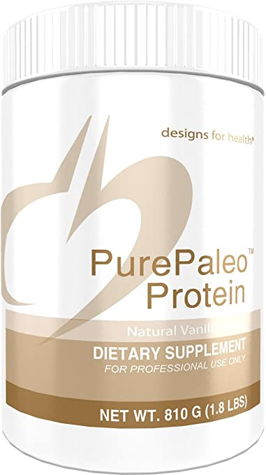 Designs for Health PurePaleo Protein Powder - Vanilla Pure Beef Collagen Peptides, 21 Grams HydroBEEF Protein with Collagen + BCAAs (30 Servings, 810 Grams) best paleo powder