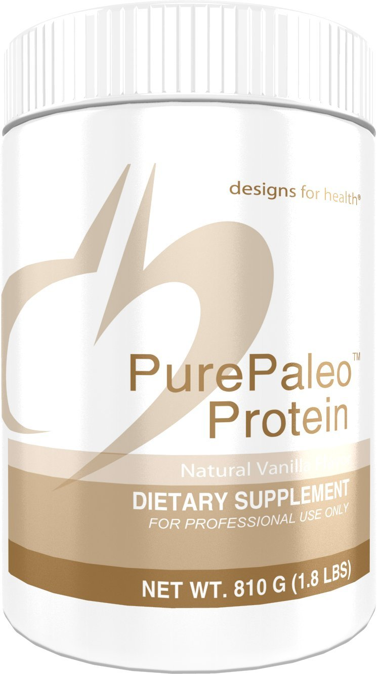 Designs for Health PurePaleo Protein - Vanilla Pure Beef Collagen Peptides 21g HydroBEEF Protein + BCAAs (810g / 30 Servings)