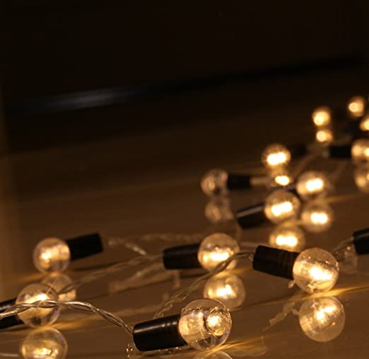 Warm White Fairy Lights Battery String Lights SHHE 10M 80 LED 2 Modes Globe Battery Operated String Lighting for Home Party Birthday Garden Bedroom Wedding Christmas Indoor Outdoor Use