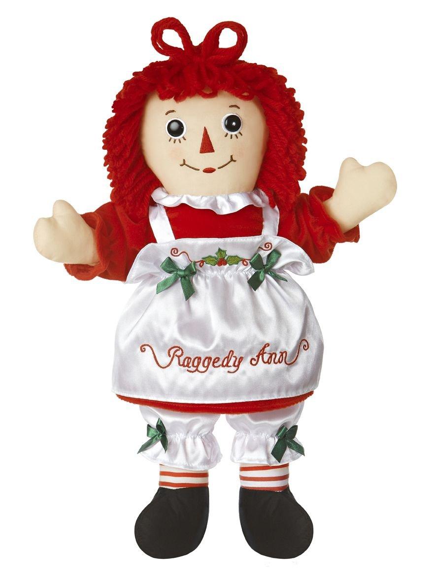 Aurora Raggedy Ann - Muñeca de trapo vestida de ayudante de Papá Noel